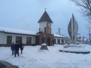 芽室駅 雪の多さに驚き