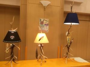 エゾシカ角ランプ