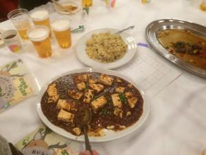 エゾシカ肉のマーボー豆腐 炒飯を添えて