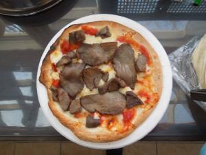 エゾシカ肉ピッザ