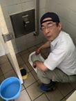 有志によるトイレ清掃