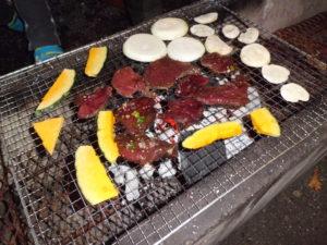 エゾシカ肉のバーベキュー